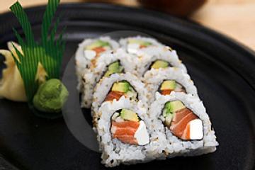 Philadelphia Roll Sushi Recipe Yummly Recipe Sushi Recipes Sushi Rice Homemade Sushi