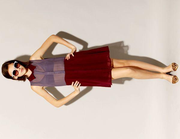 Two tone burgundy dress [Mui1034] - $56 : Pixie Market, Fashion-Super-Market
