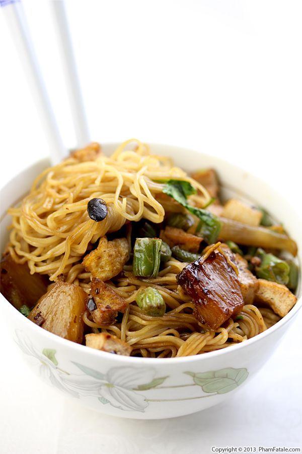 Mi Xao Chay Recipe Vegetarian Soft Egg Noodle Stir Fry