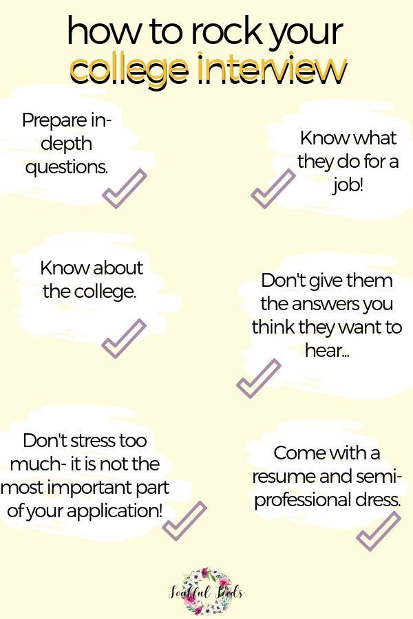 College Admissions Interview - For niklas College admission