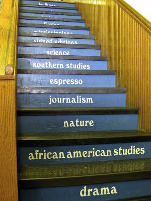 Take a trip to Oxford, MS to explore the art of literature, fine dining, tailgate parties or just to enjoy a little southern charm. Stairs Inside Square Books, Oxford, Mississippi My Own Sweet Thyme