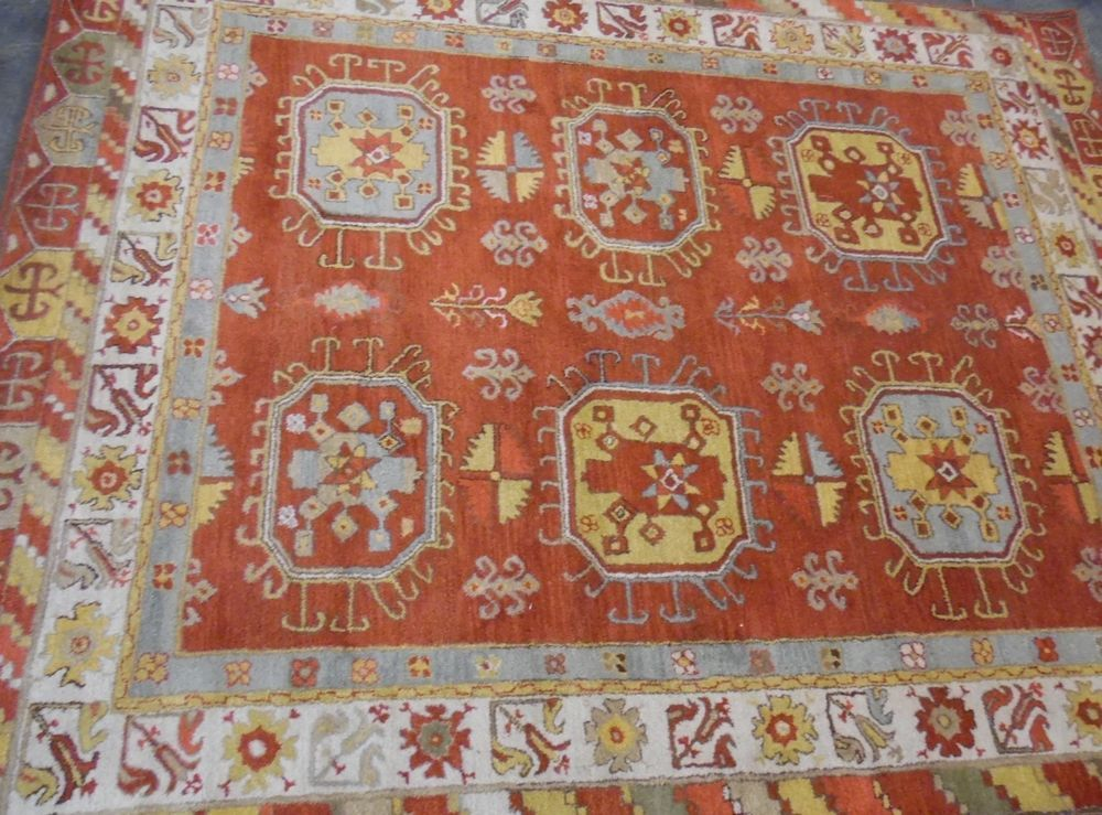 Pottery Barn Red Martine Persian Style 8x10 Rug Potterybarn