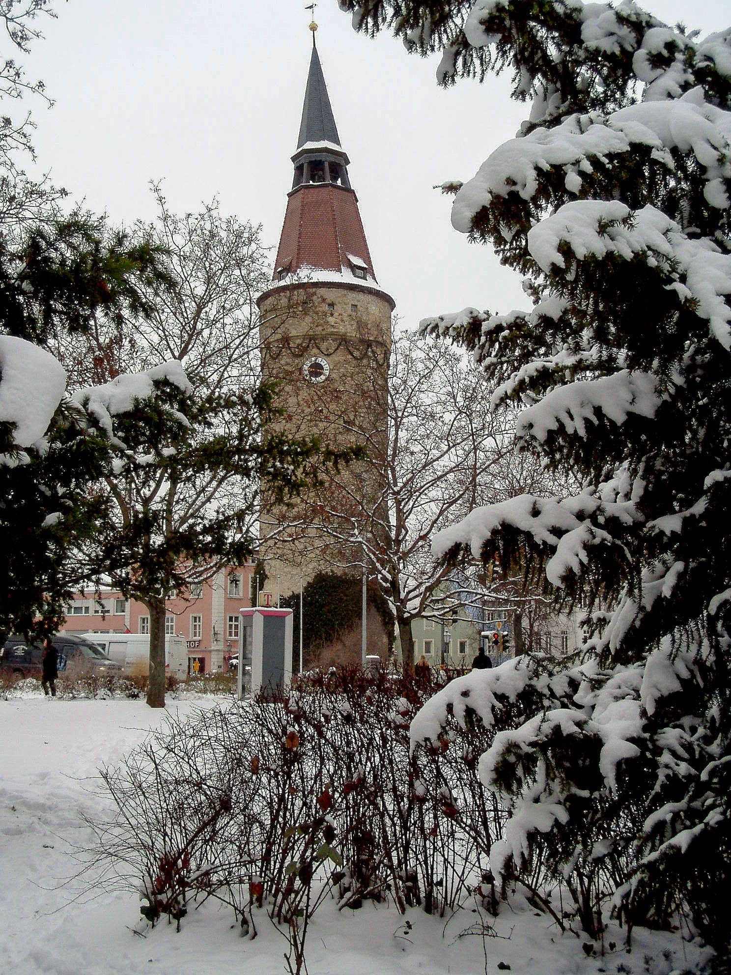 Der Falterturm, das Wahrzeichen der unterfränkischen Stadt Kitzingen
