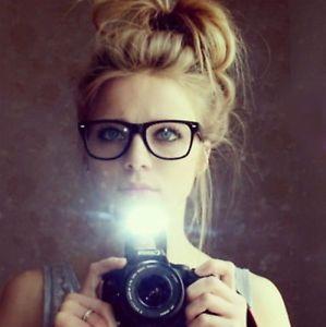 Womens Celebrity Wayfarer Eyeglasses CLEAR LENS fashion blogger blog hipster