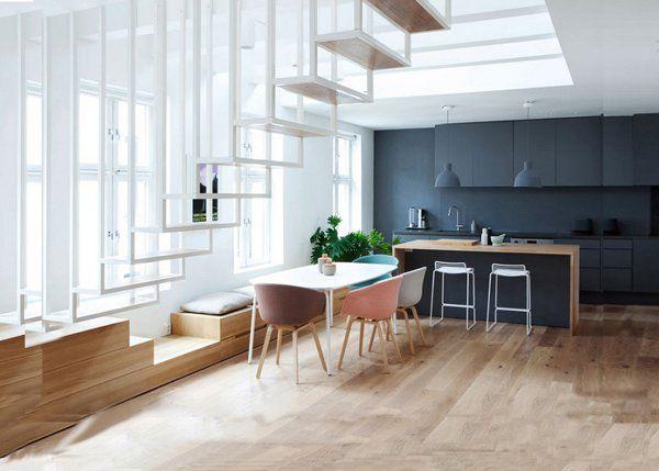 Une cuisine ouverte sur la salle à manger | Lofts, Interior ...