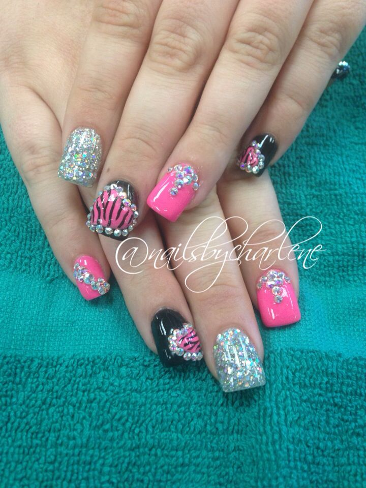 Valentines day nail art nail designs acrylic nails 3d | Nails ...