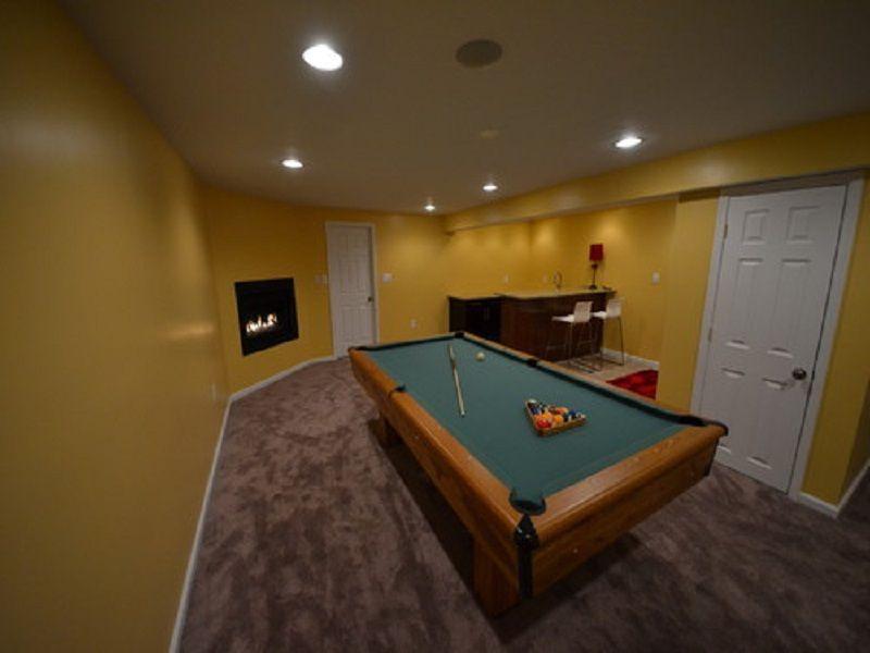 Indoor · Large Basement Wet Bar Designs ...