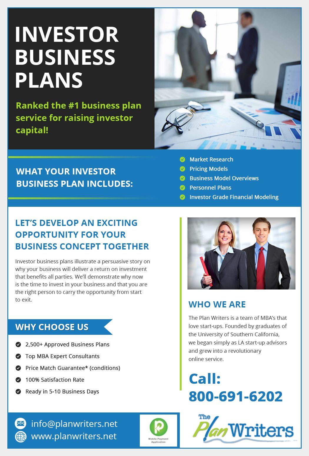 Investor Business Plans Business investors, Business