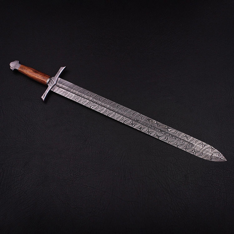 Damascus Celtic Sword 9277 Celtic Sword Celtic Leather Sheath