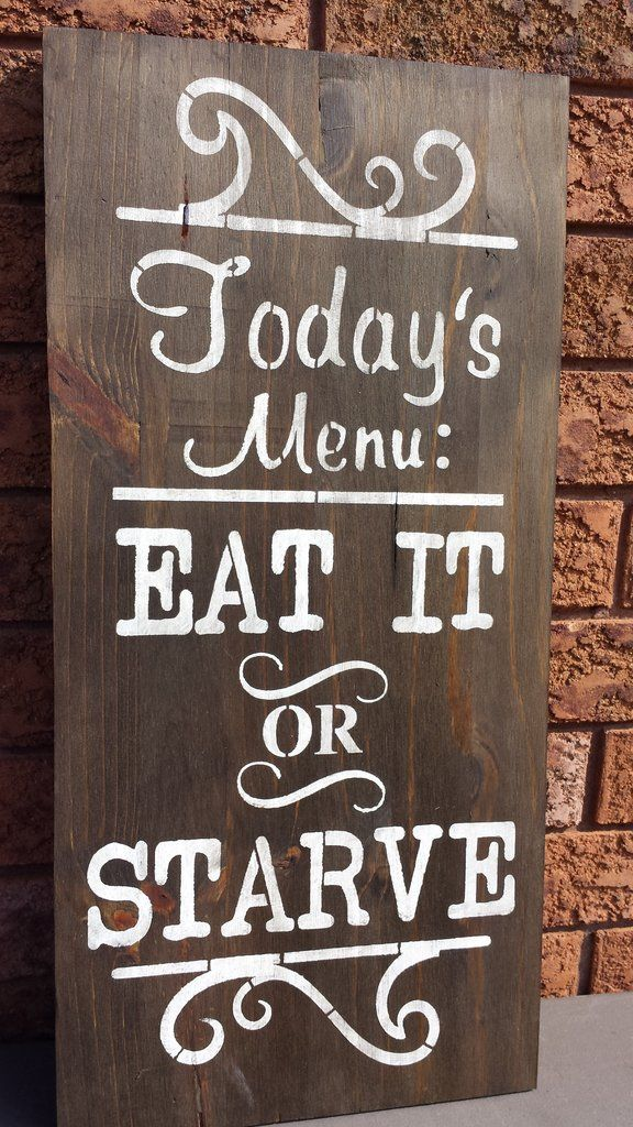 Kitchen Menu Sign Diy Wood Signs Wooden Signs House Warming Gifts