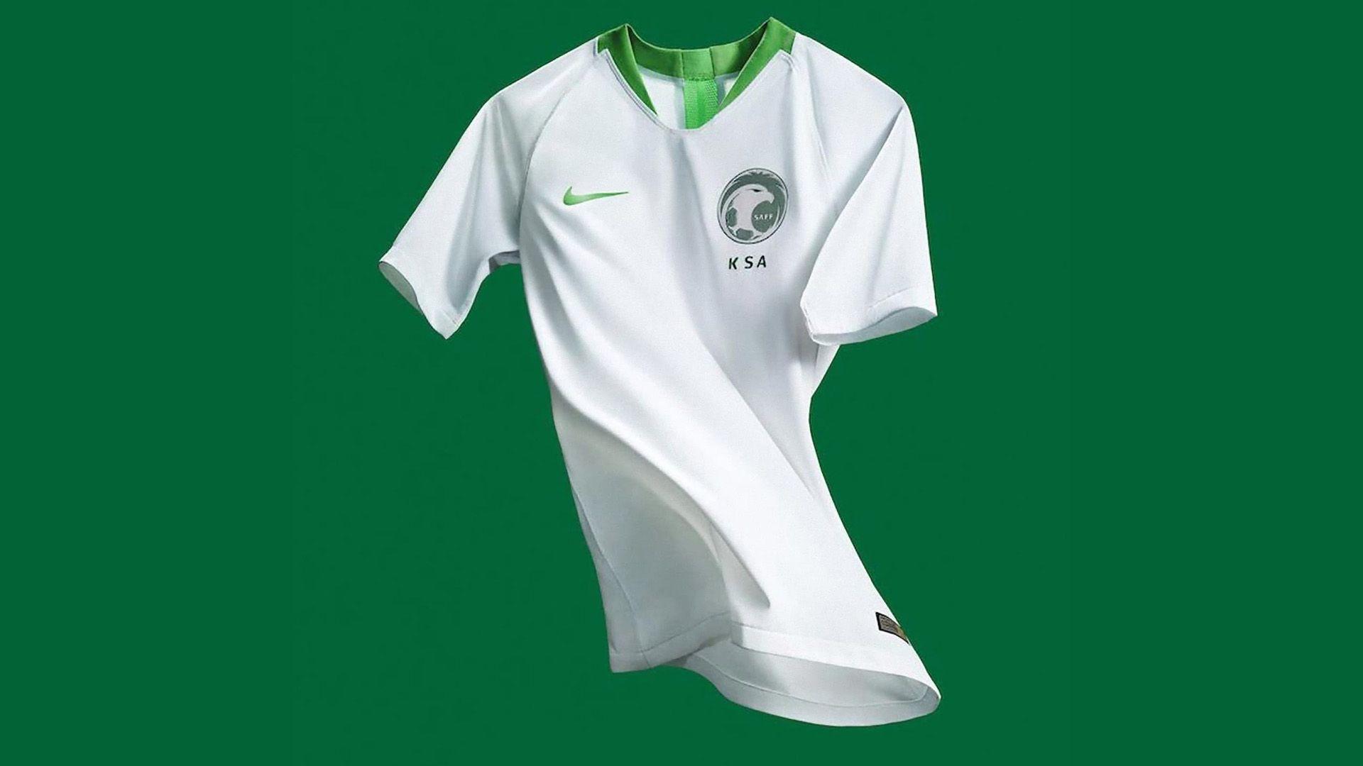 Arabia Saudita Camiseta Titular Saudi Arabia Home Kit 2018 ... ddef66ead4bc8