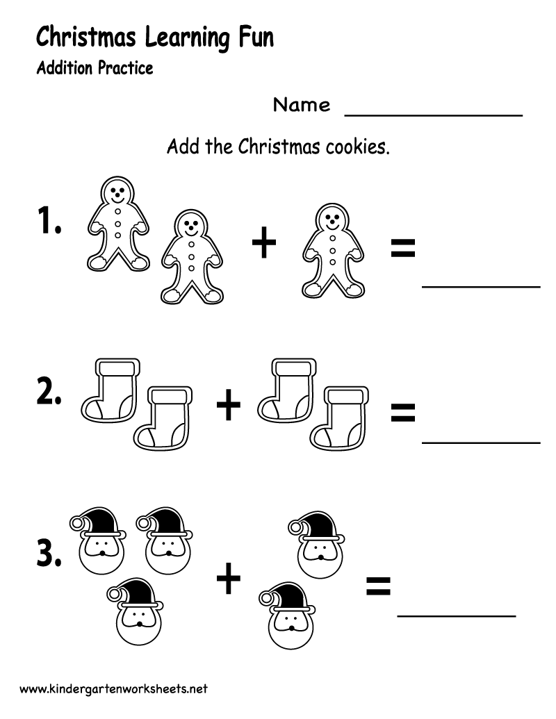 worksheet Math Christmas Worksheets kindergarten christmas cookies worksheet printable printable