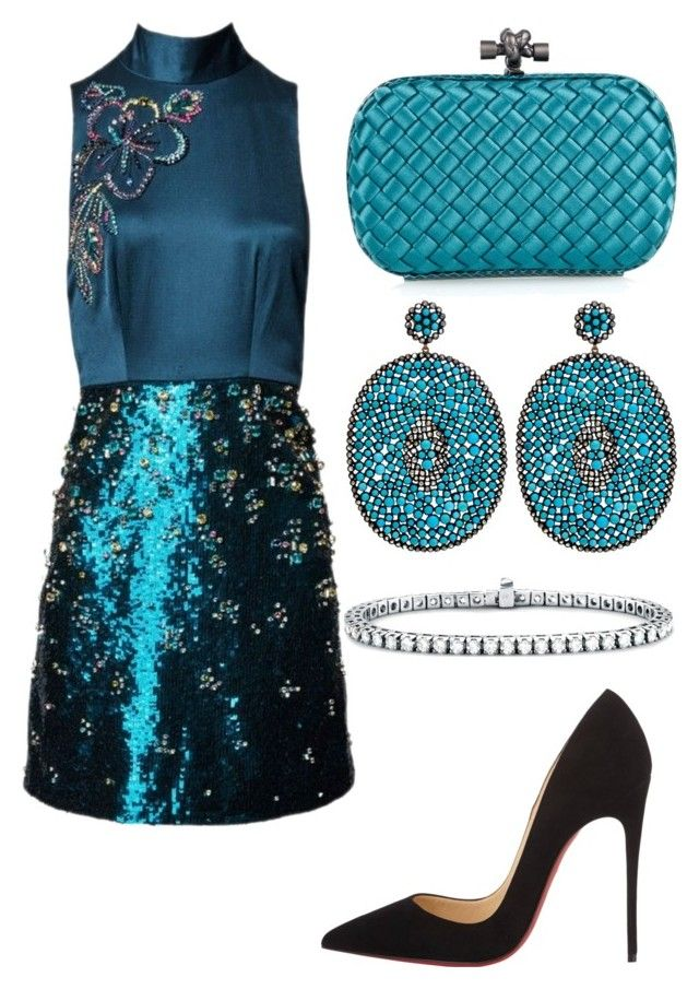 """Untitled #26674"" by edasn12 ❤ liked on Polyvore featuring Matthew Williamson, Bottega Veneta, Nush, Christian Louboutin and Blue Nile"