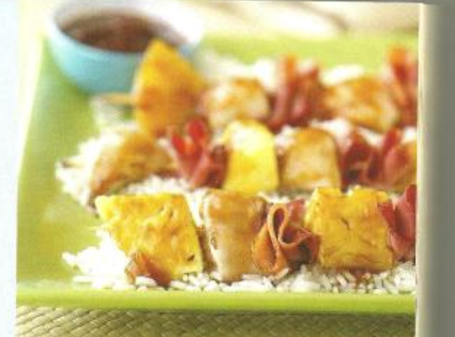 Chicken, Pineapple and Bacon Kabobs