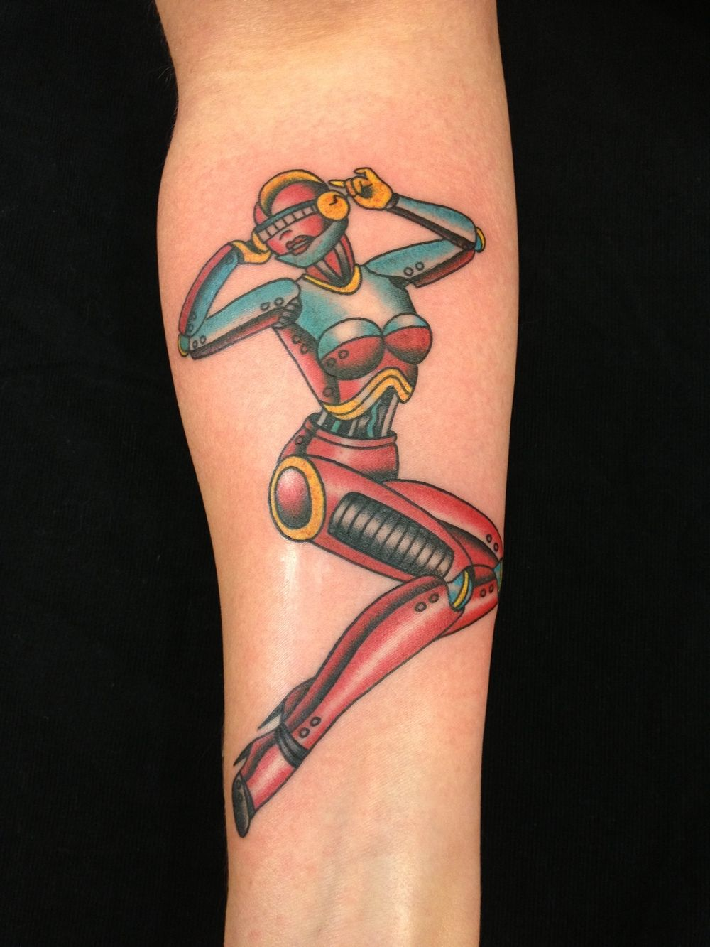 Fat Rams Tattoo Parlor Melissa Baker Pin Up Robot
