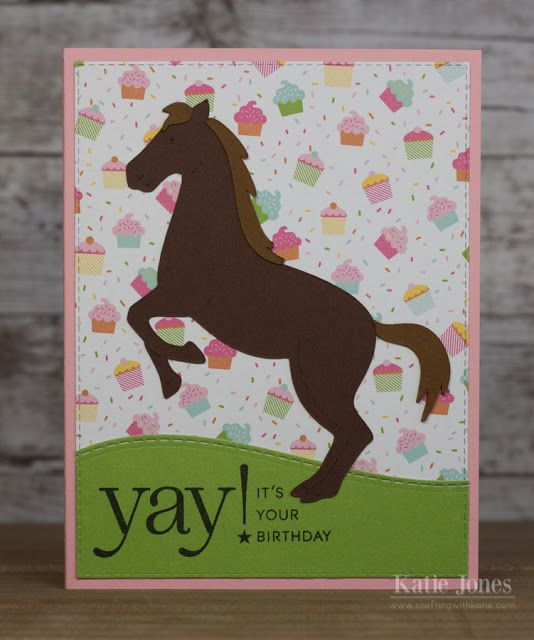 Cricut Horse Birthday Card Crafting With Katie Horse Cards Kids Birthday Cards Kids Cards