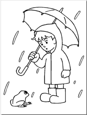 Rainy Day Coloring Sheet Kids Activity Rainy Days Spring