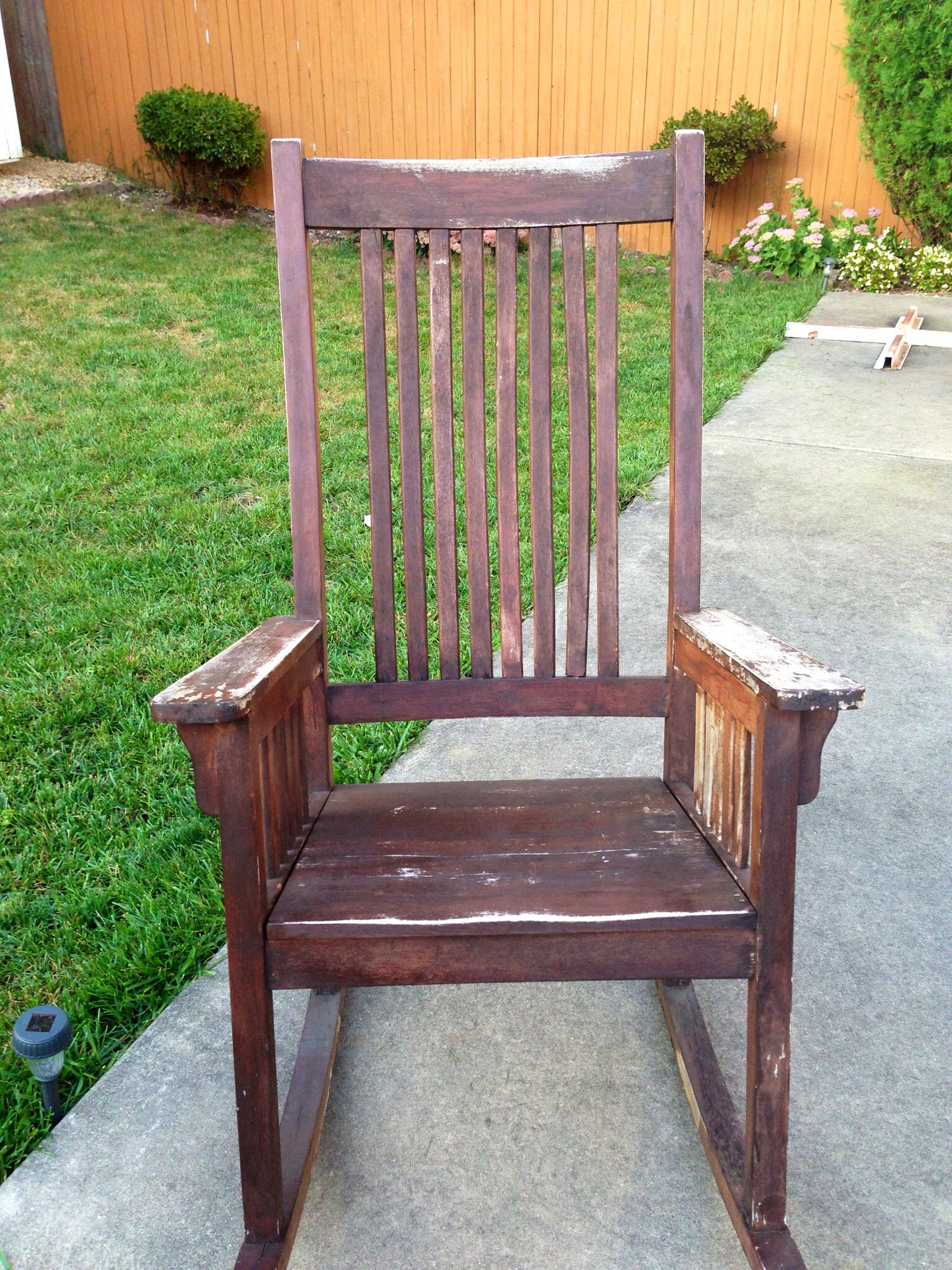 Dyi This Is An Old Rocking Chair Outdoor And