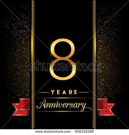 eight years anniversary celebration logotype 8th anniversary logo