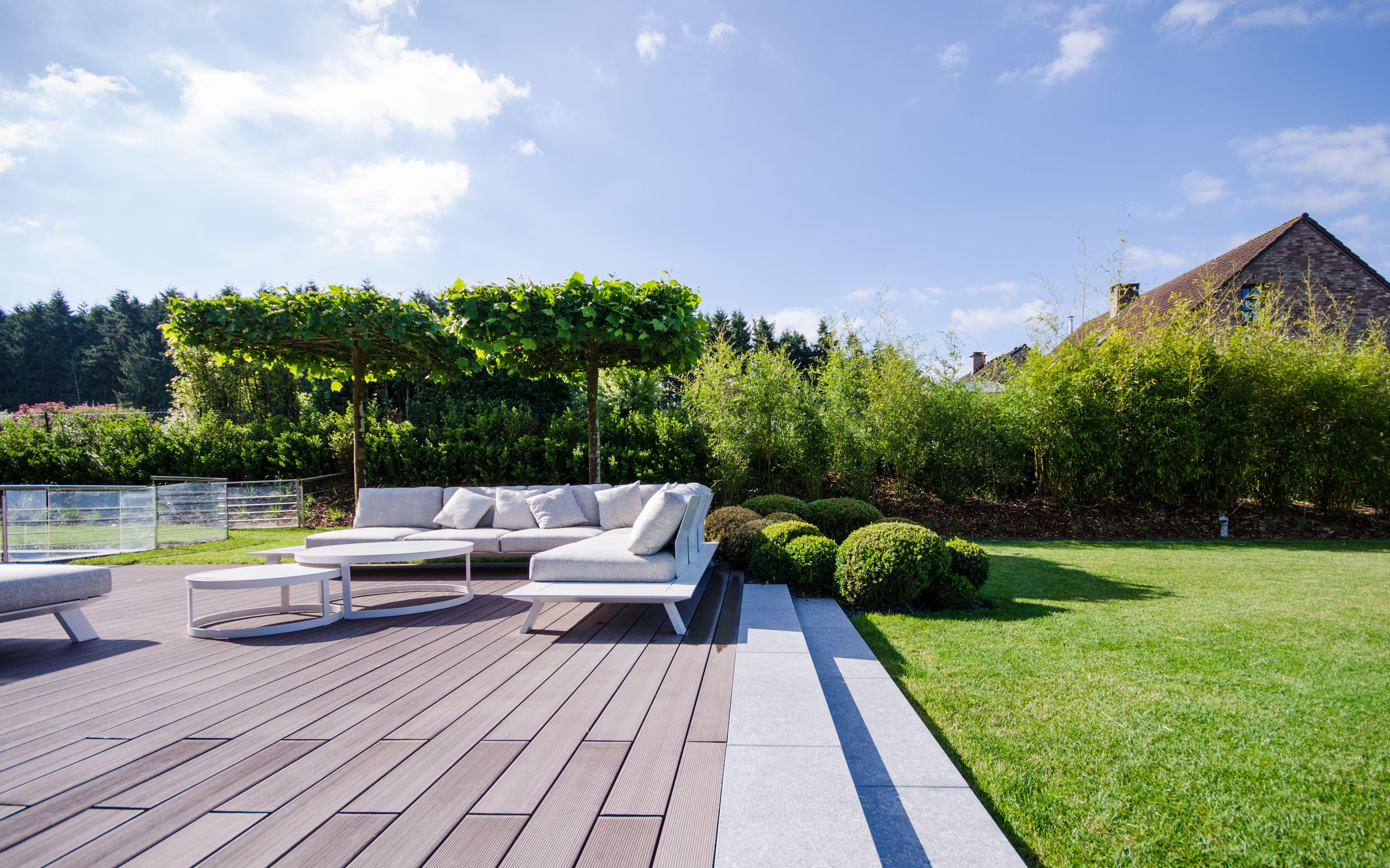 Jardin Prive Terrasse Salon A L Ombre Des Platanes Marches En