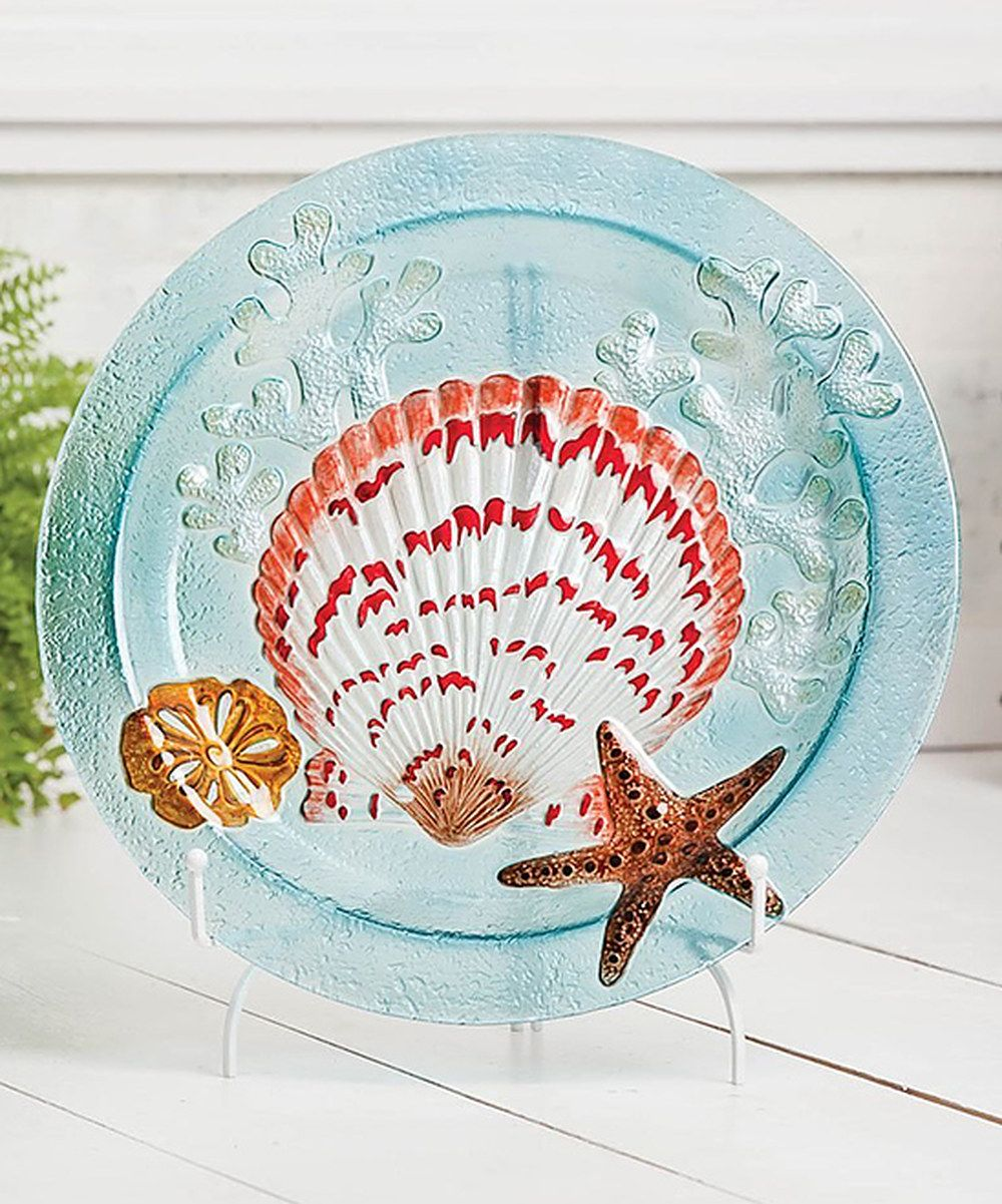 Another great find on #zulily! Seashells Glass Platter by Cypress Home #zulilyfinds. $34.99