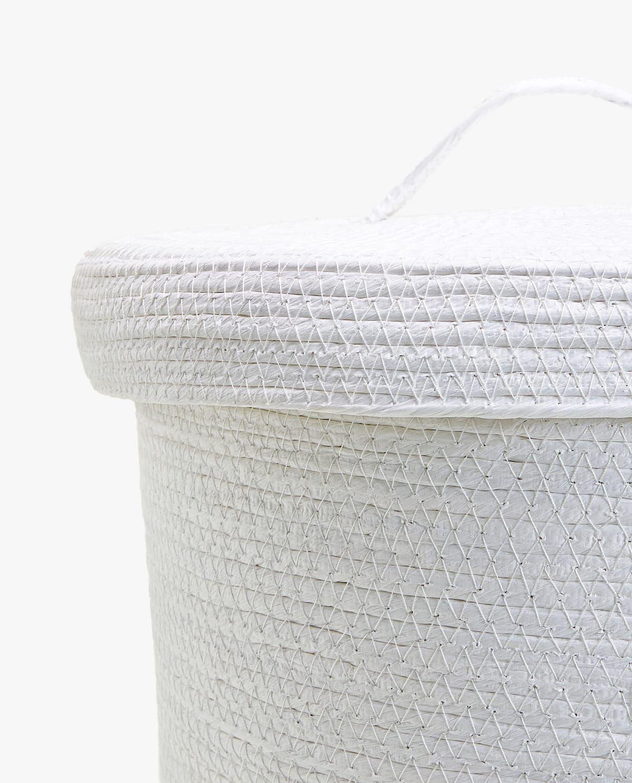 Woven Basket With Lid Basket Weaving Bathroom Baskets Basket