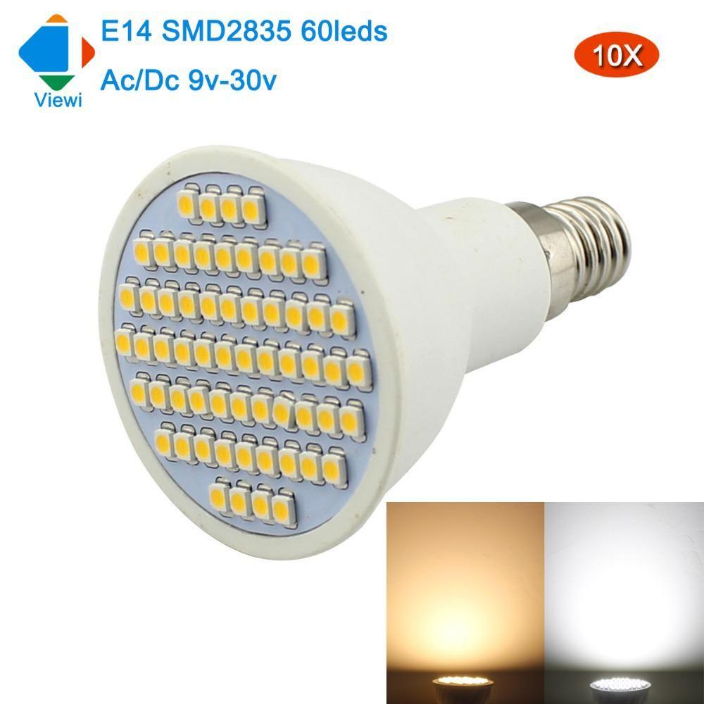 Viewi 10x Ampoule Led E14 Spotlight Ac Dc 12 24 Volt Smd 2835 Us 21 89 Bulb Light Bulb Led