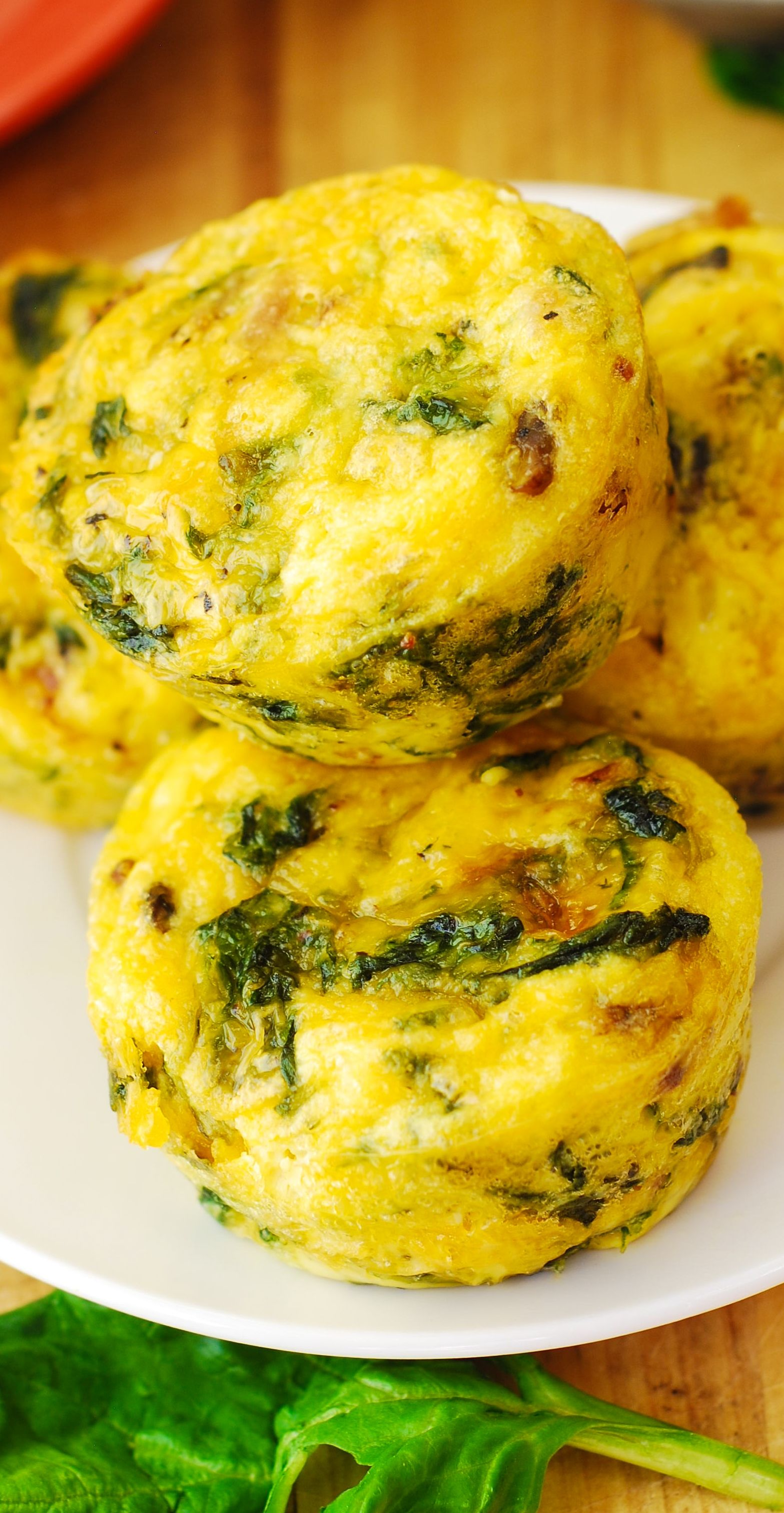 Breakfast Egg Muffins With Bacon And Spinach Recipe These