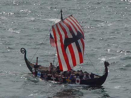 Viking Ship Norseman Joins Rurik 2003 Viking Ship Viking Reenactment Vikings