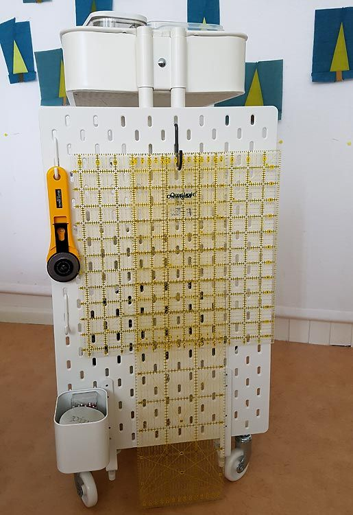 Photo of Ikea hack: How to create a mobile pegboard storage unit from the Raskog cart and Skadis pegboard