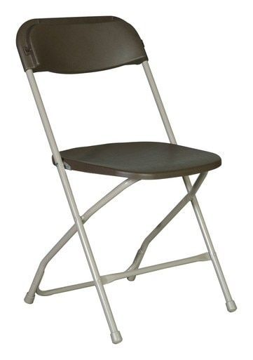 Rhino Series Chocolate Plastic Folding Chair 800 Lb Capacity