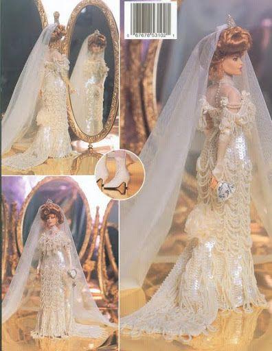 Crochet Doll Dresses - Connie Ranft - Picasa Albums Web | barbie et ...