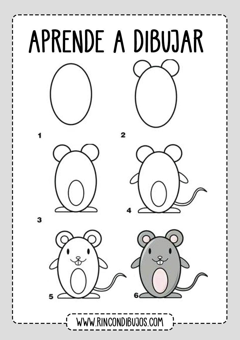 Dibujar Paso A Paso Rincon Dibujos Dibujo Paso A Paso Aprender A Dibujar Dibujos Sencillos Para Dibujar