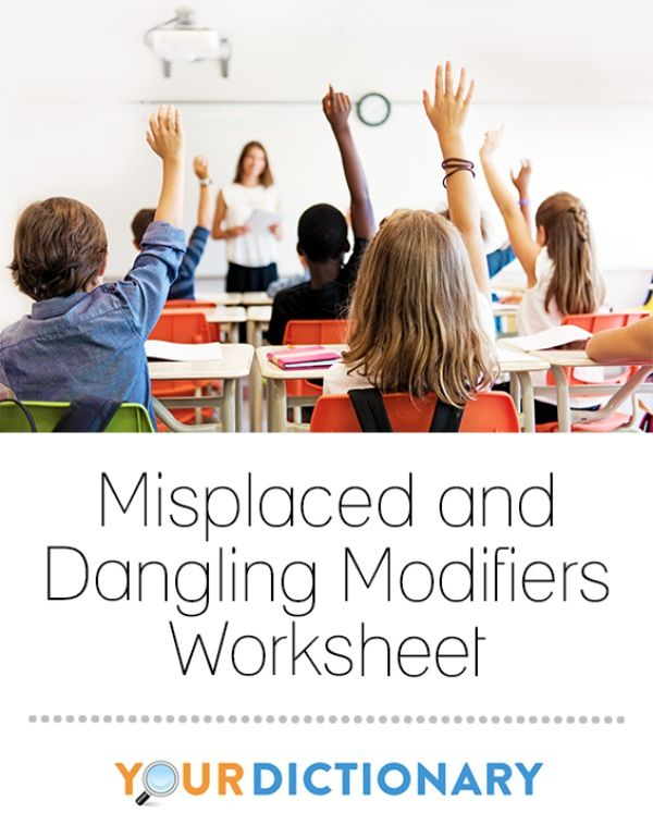 Misplaced And Dangling Modifiers Worksheet Worksheets Adjective