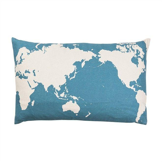 Cushions Home Decor Nood NZ world map cushion Our house