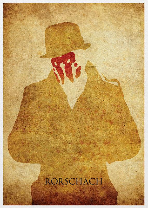 watchmen rorschach vintage poster print products watchmen