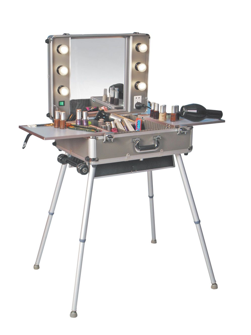 portable vanity mirror with lights. Mirrors Portable Makeup Vanity Table With Lights STM Studio Supplies  Christmas Wish
