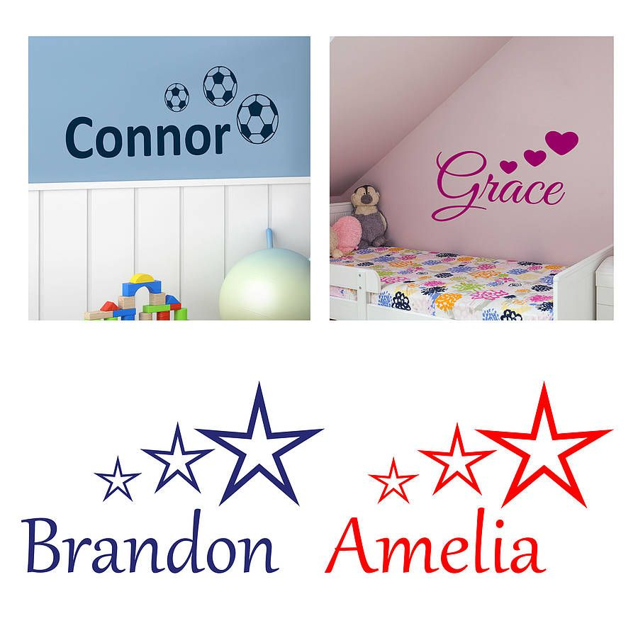 A Great Choice Of Kids Name Wall Stickers By Wall Decals Uk By - Bedroom wall decals uk