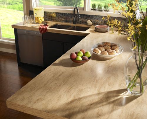 DuPont™ Corian® Hickory Smoke solid-surface counter top | Kitchen ...