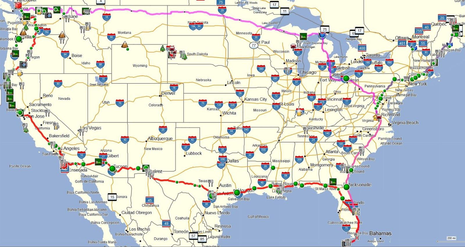 Httpssmediacacheakpinimgcomoriginals - Us map with roads