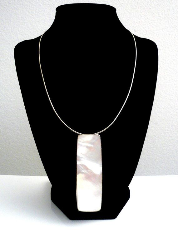 Stunning Modernist White Sterling 925 by glamrox. www.etsy.com/shop/glamrox