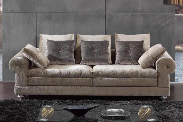 Elegante Sofas elegante sofá de dos piezas en terciopelo sofás