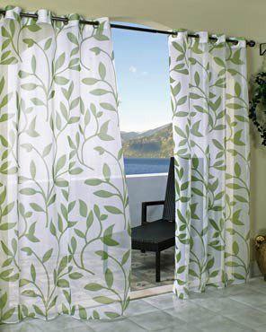 Cote D Azure Indoor Outdoor Sheer Grommet Top Panel Outdoors And