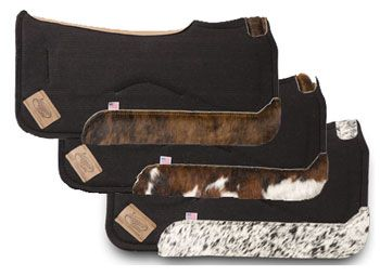 Impact Gel Contour Pad With Hair-On-Hide | ChickSaddlery com