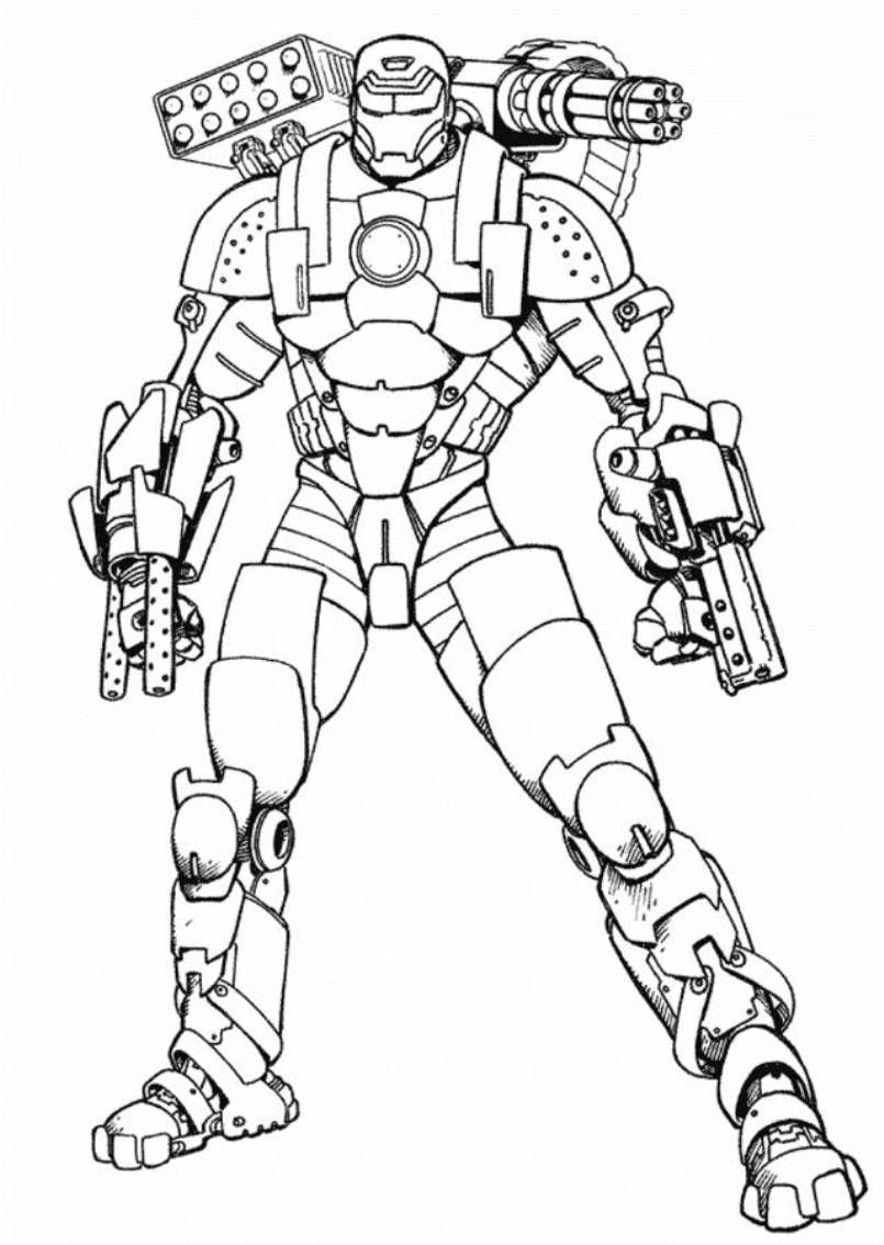 War Machine Coloring Pages Printable 17 B In 2020 Superhero Coloring Pages Avengers Coloring Pages Avengers Coloring