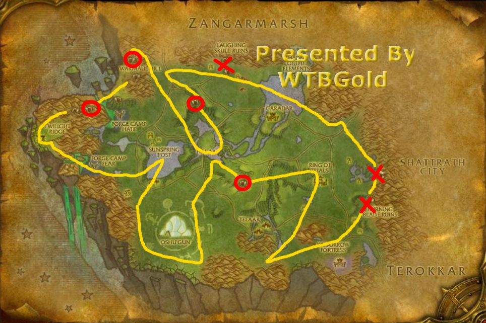 Khorium And Adamantite Ore Farminging Route For Nagrand For All You World Of Warcraft Miners Guide Http Youtu Be Fd Vq8toeva