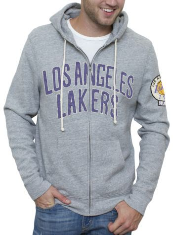 NBA Los Angeles Lakers Full Zip Hoodie with Applique @ http://www.junkfoodclothing.com