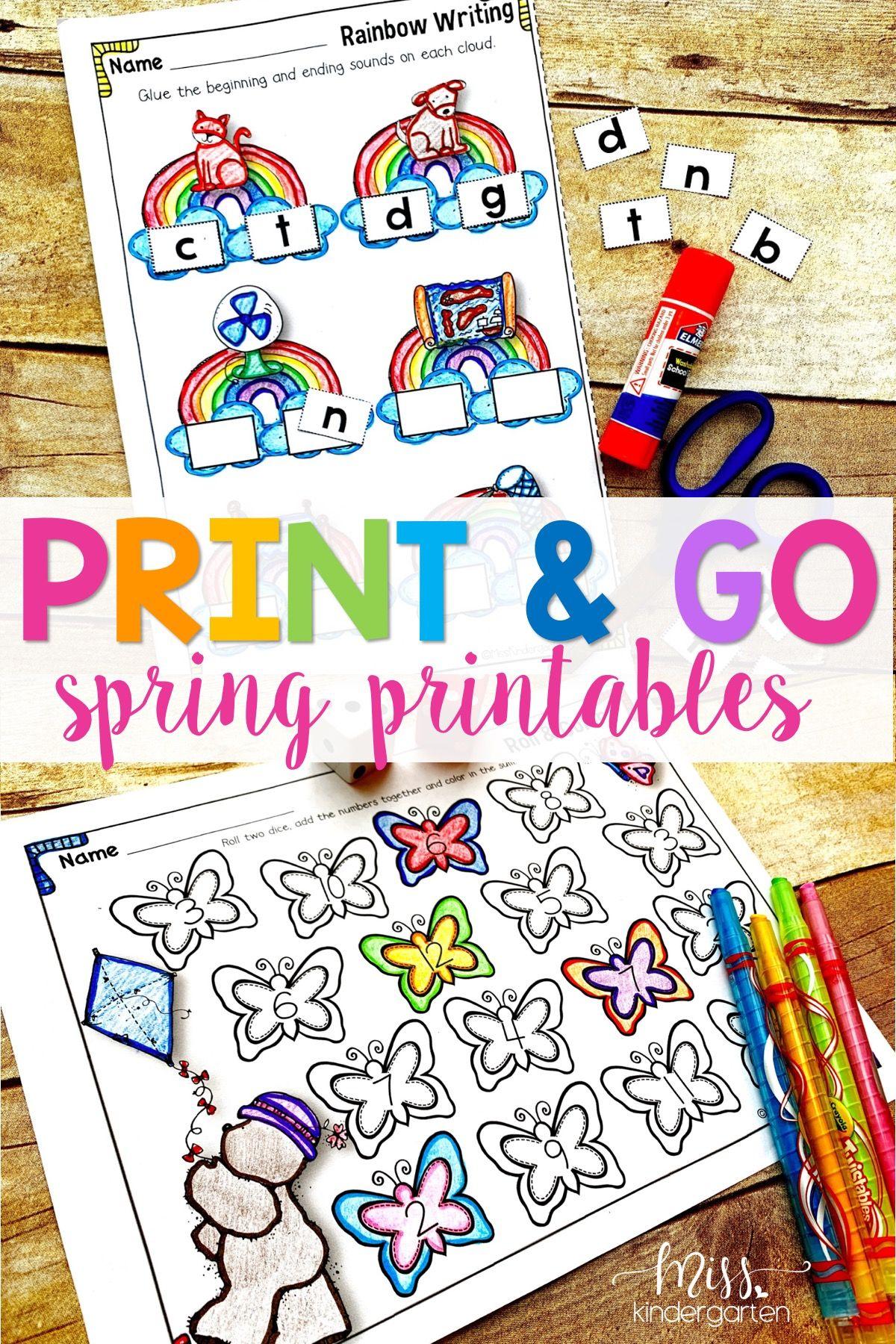 Hooray For Kindergarten Printables Use These Worksheets