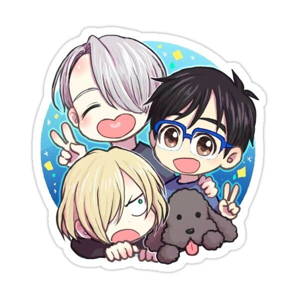 Yuuri On Ice Sticker by violetbubbles