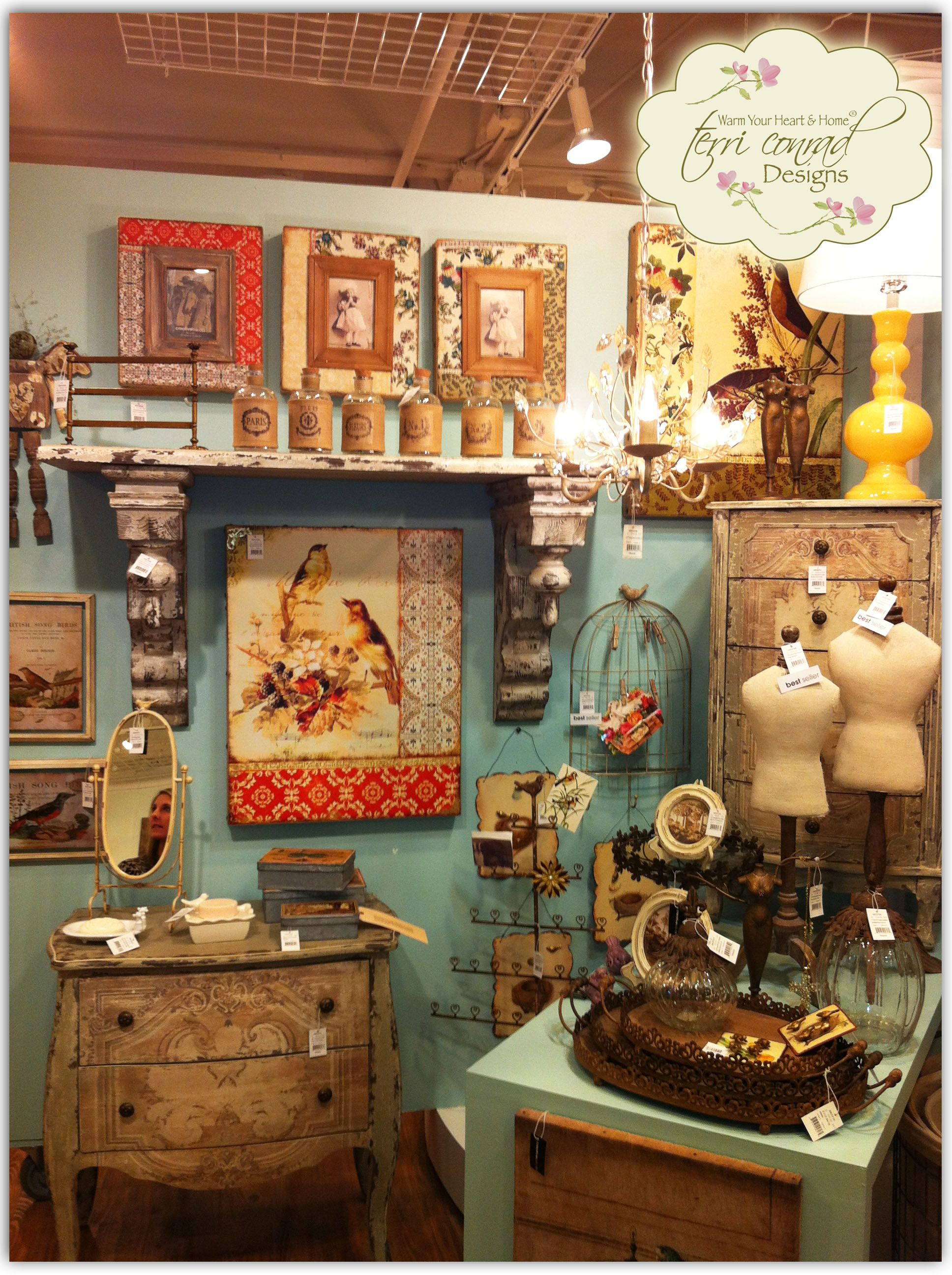Terri Conrad Designs For Creative Co Op #vintage Inspired, #home Decor,  #birds